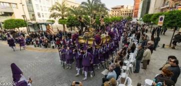 Paso de jesus en la columna de la Procesión de los Salzillos del Viernes Santo de Murcia