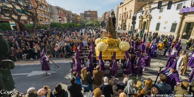 Paso de la dolorosa de la Procesión de los Salzillos del Viernes Santo de Murcia
