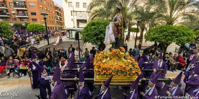 Paso de la santa mujer veronica de la Procesión de los Salzillos del Viernes Santo de Murcia