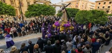 Paso de nuestro padre jesus nazareno de la Procesión de los Salzillos del Viernes Santo de Murcia