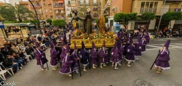 Paso del Prendimiento de la Procesión de los Salzillos del Viernes Santo de Murcia