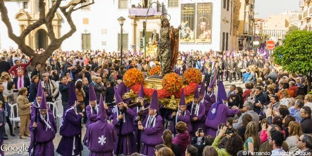Paso del apostol san juan de la Procesión de los Salzillos del Viernes Santo de Murcia